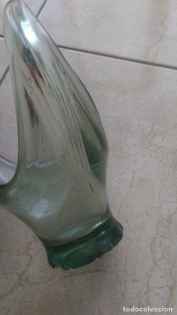 Antigüedades: Antiguo centro de mesa de vidrio hecho a mano - Foto 5 - 174504174