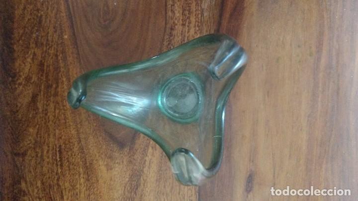 Antigüedades: Antiguo centro de mesa de vidrio hecho a mano - Foto 10 - 174504174