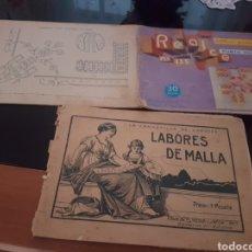 Antigüedades: LOTE 3 LIBRITOS DE BORDADOS. Lote 174511885