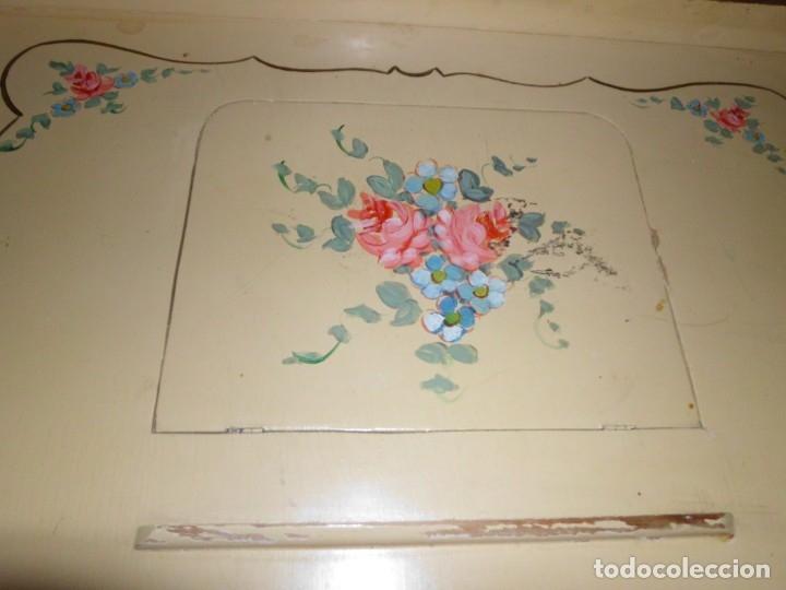 Antigüedades: BANDEJA DE CAMA DE MADERA - Foto 2 - 174514035