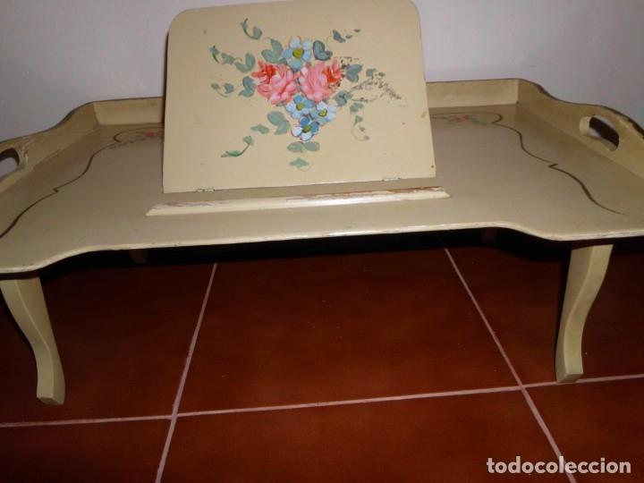 Antigüedades: BANDEJA DE CAMA DE MADERA - Foto 3 - 174514035