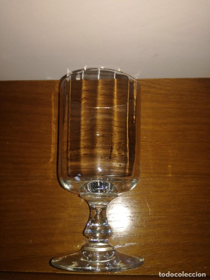 Antigüedades: Antigua copa cristal posible Santa Lucía - Foto 2 - 174516088