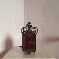 Antigüedades: JOYITA DE FAROL CON CRISTALES ROJOS S.XIX. Lote 59001371