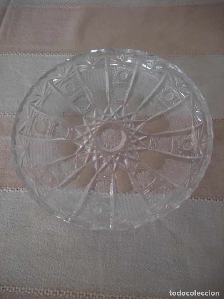 CRISTAL DE BOHEMIA PLATO DE APERITIVOS,TALLA ESTRELLA DIAMANTE, REPÚBLICA CHECA (Antigüedades - Cristal y Vidrio - Bohemia)
