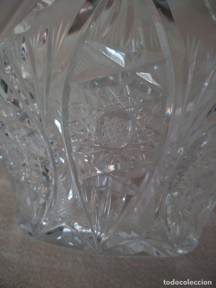 Antigüedades: Cristal de Bohemia cesto de caramelos talla estrella diamante, república checa - Foto 5 - 174527399