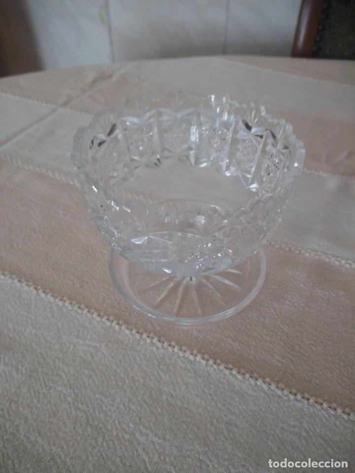 Antigüedades: Cristal de Bohemia Tallado Copa de aperitivos , talla estrella diamante, república checa - Foto 2 - 174527468