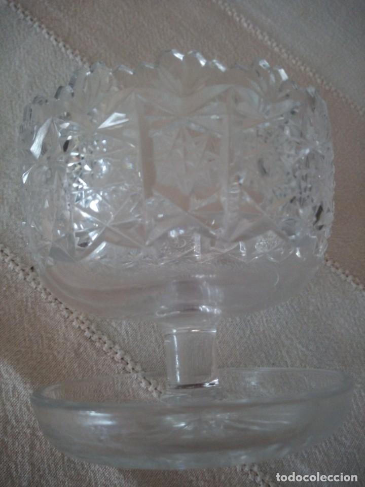 Antigüedades: Cristal de Bohemia Tallado Copa de aperitivos , talla estrella diamante, república checa - Foto 3 - 174527468