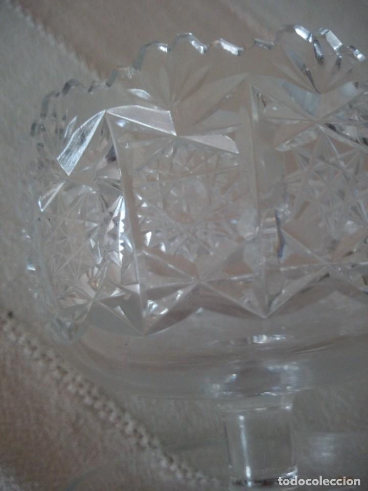 Antigüedades: Cristal de Bohemia Tallado Copa de aperitivos , talla estrella diamante, república checa - Foto 4 - 174527468