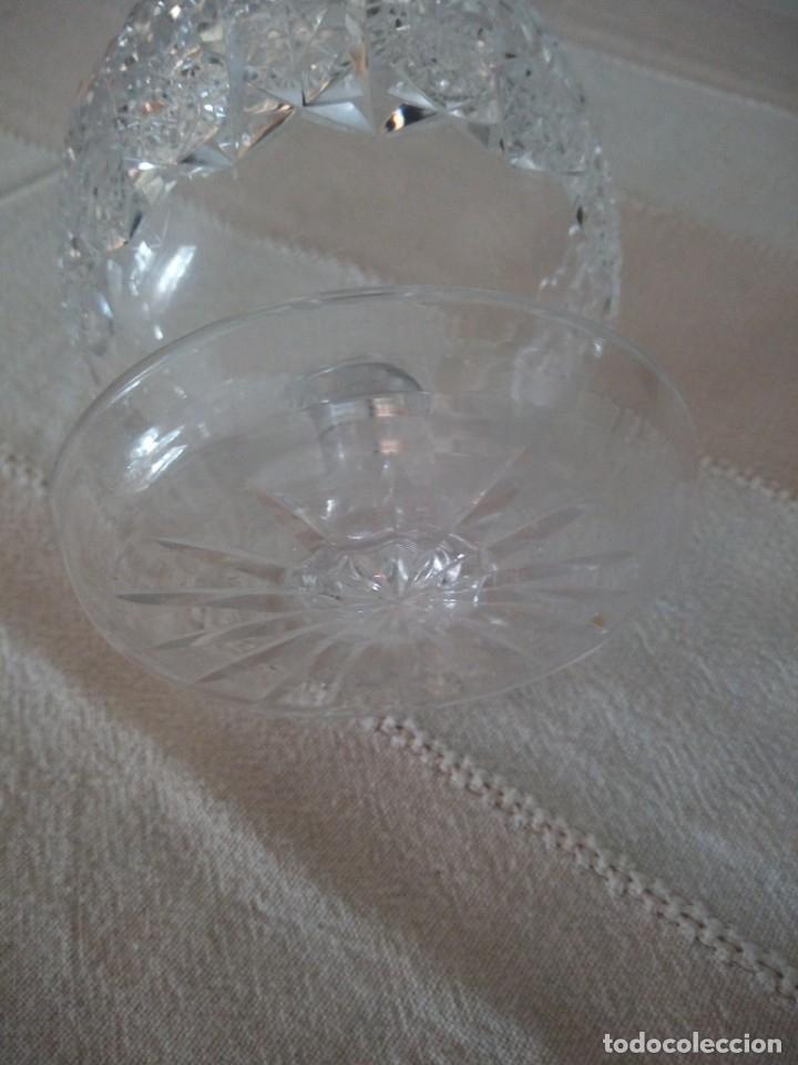 Antigüedades: Cristal de Bohemia Tallado Copa de aperitivos , talla estrella diamante, república checa - Foto 5 - 174527468