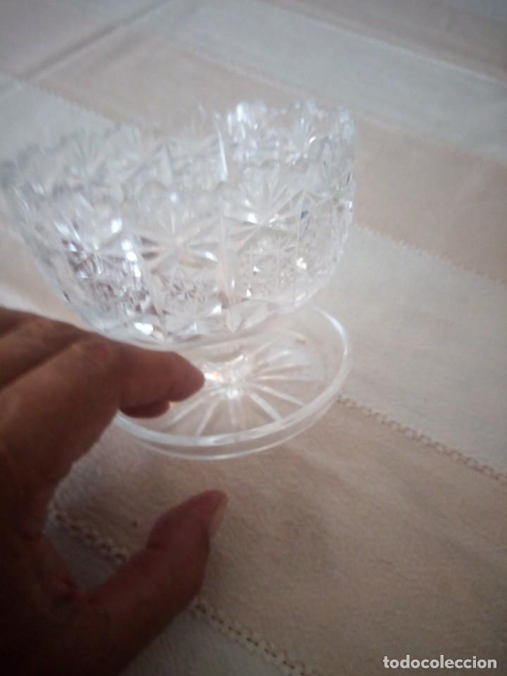 Antigüedades: Cristal de Bohemia Tallado Copa de aperitivos , talla estrella diamante, república checa - Foto 6 - 174527468