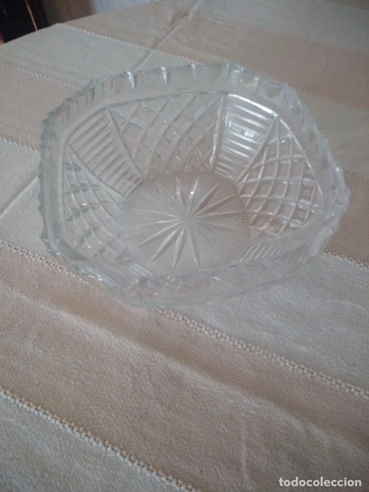 Antigüedades: Preciosa fuente tallada de cristal de bohemia estrella, república checa - Foto 2 - 174528539