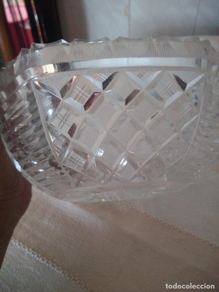 Antigüedades: Preciosa fuente tallada de cristal de bohemia estrella, república checa - Foto 3 - 174528539