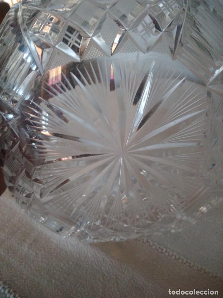 Antigüedades: Preciosa fuente tallada de cristal de bohemia estrella, república checa - Foto 4 - 174528539