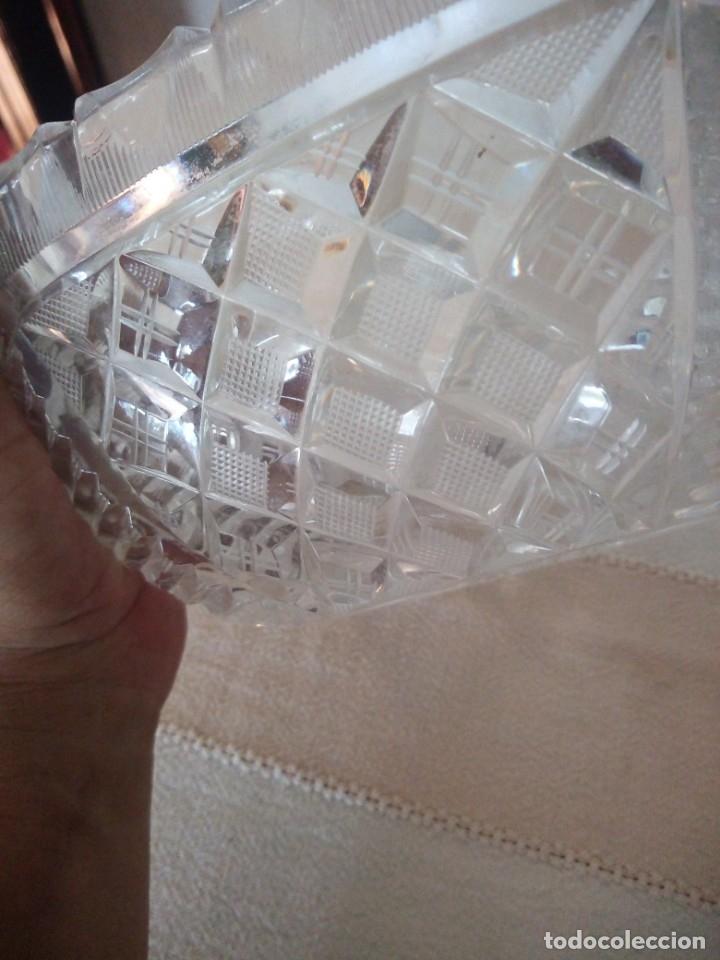 Antigüedades: Preciosa fuente tallada de cristal de bohemia estrella, república checa - Foto 5 - 174528539