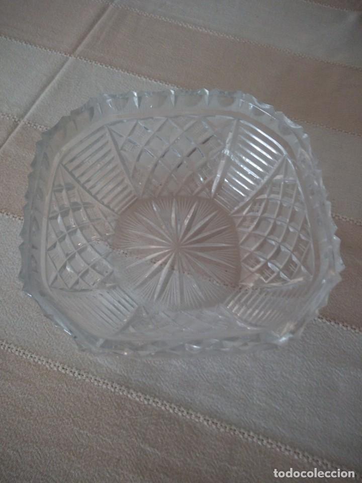 Antigüedades: Preciosa fuente tallada de cristal de bohemia estrella, república checa - Foto 6 - 174528539
