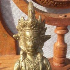 Antigüedades: FIGURA DE BRONCE INDU DE 1970. Lote 174536117