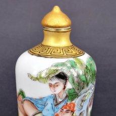 Antigüedades: JAPON, PERFUMERO EROTICO JAPONES, EN PORCELANA Y PINTADO A MANO CON ALGUNOS ADORNOS EN ORO. SELLO. Lote 174547842
