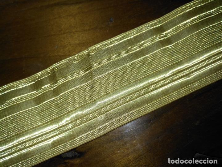 Antigüedades: gran galon original oro metal metalico , antiguo original 43 x 5 cm - alta calidad ideal virgen - Foto 3 - 174570719