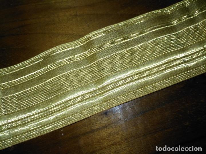 Antigüedades: gran galon original oro metal metalico , antiguo original 43 x 5 cm - alta calidad ideal virgen - Foto 4 - 174570719
