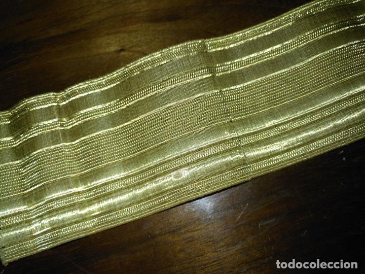 Antigüedades: gran galon original oro metal metalico , antiguo original 43 x 5 cm - alta calidad ideal virgen - Foto 6 - 174570719