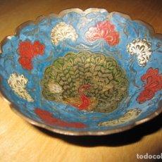 Antigüedades: CUENCO CLOISONNE, ESMALTE ALVEOLADO. Lote 174580269