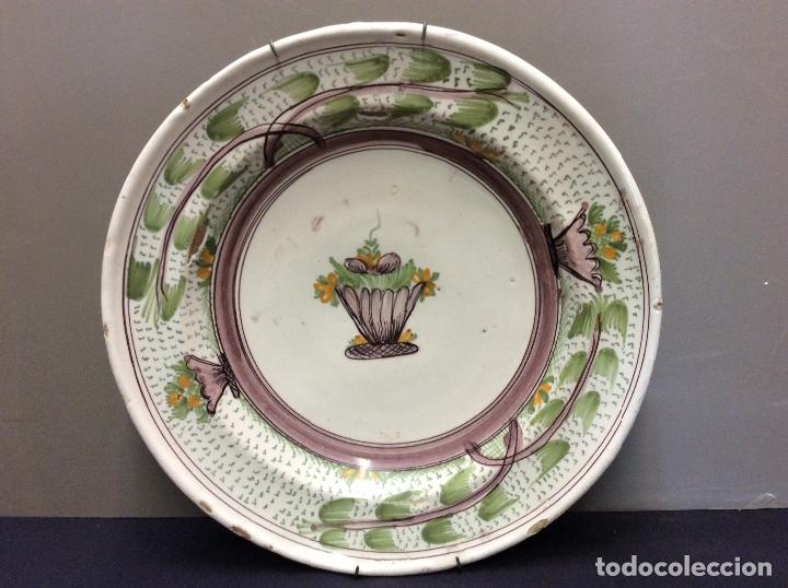 PLATO CERAMICA RIBESALBES. S. XIX. (Antigüedades - Porcelanas y Cerámicas - Ribesalbes)