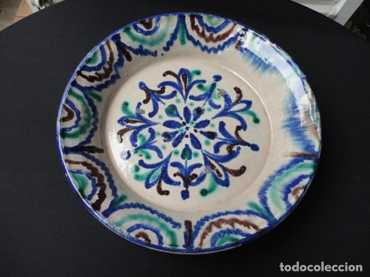 ALFARERÍA ANDALUZA: PLATO TRICOLOR FAJALAUZA (GRANADA) (Antigüedades - Porcelanas y Cerámicas - Fajalauza)