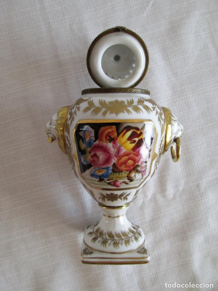 Antigüedades: TIBOR INCENSARIO DE PORCELANA - POSIBLEMENTE MEISSEN - FIRMADO - Foto 3 - 174952920