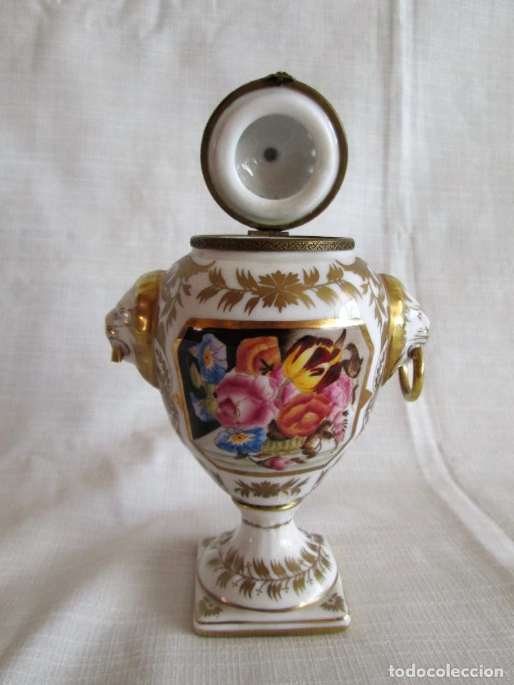 Antigüedades: TIBOR INCENSARIO DE PORCELANA - POSIBLEMENTE MEISSEN - FIRMADO - Foto 10 - 174952920