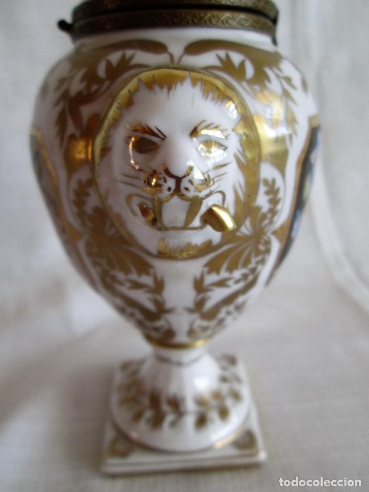 Antigüedades: TIBOR INCENSARIO DE PORCELANA - POSIBLEMENTE MEISSEN - FIRMADO - Foto 11 - 174952920