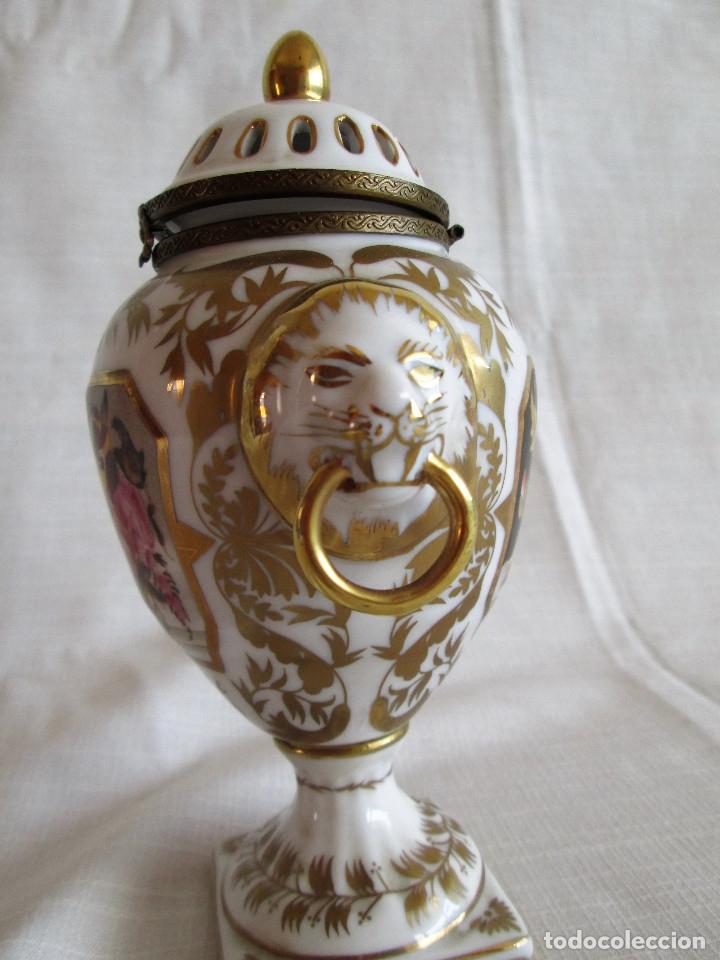 Antigüedades: TIBOR INCENSARIO DE PORCELANA - POSIBLEMENTE MEISSEN - FIRMADO - Foto 13 - 174952920