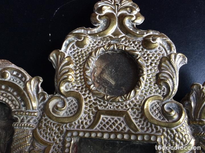 Antigüedades: RELICARIO-CUSTODIA METAL PLATEADO SIGLO XVIII,RELIQUIAS SAN ANTONIO-S.EVARISTO Y S.VICENTE-47X20 cm - Foto 2 - 174957287
