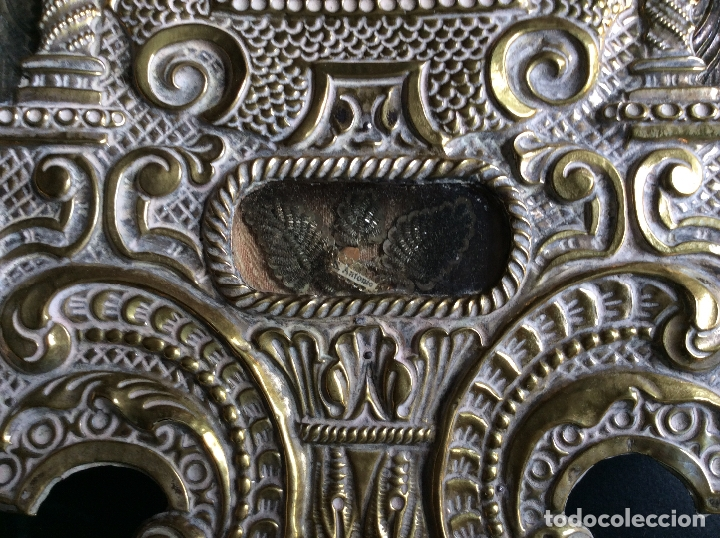 Antigüedades: RELICARIO-CUSTODIA METAL PLATEADO SIGLO XVIII,RELIQUIAS SAN ANTONIO-S.EVARISTO Y S.VICENTE-47X20 cm - Foto 6 - 174957287