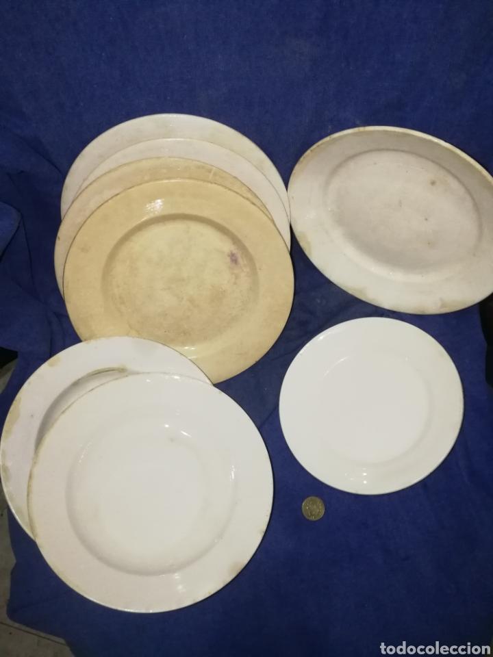 LOTE ANTIGUOS PLATOS CLAUDIO (Antigüedades - Porcelanas y Cerámicas - San Claudio)
