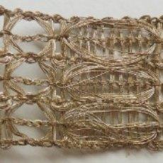 Antigüedades: ANTIGUO ENCAJE DE PLATA S. XIX. Lote 174967100