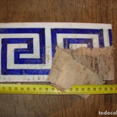 Antigüedades: CENEFA BALDOSA CERAMICA PINTADA A MANO VER FOTOS. Lote 174985750