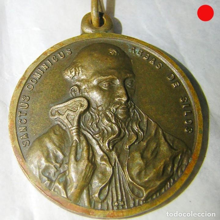 MEDALLA MUY ANTIGUA DE SANTO DOMINGO DE SILOS (Antigüedades - Religiosas - Medallas Antiguas)