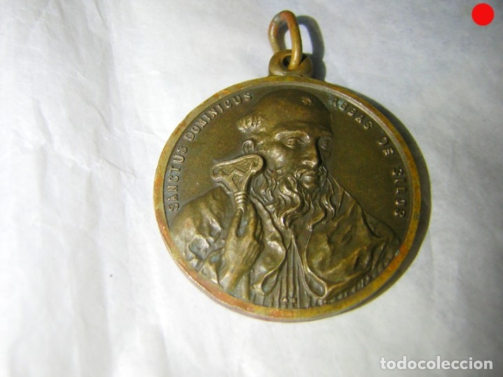 Antigüedades: MEDALLA MUY ANTIGUA DE SANTO DOMINGO DE SILOS - Foto 3 - 174990934