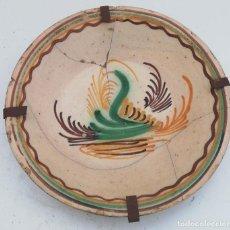 Antigüedades: PLATO ANTIGUO DE PUENTE DEL ARZOBISPO DE 31 CMS. DE DIAMETRO . Lote 174992770