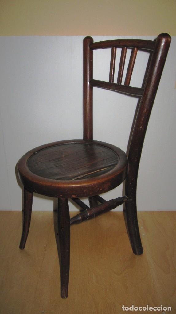 SILLA SILLITA ANTIGUA THONET MADERA FRANCO TORMO (1865-1941) (Antigüedades - Muebles Antiguos - Sillas Antiguas)