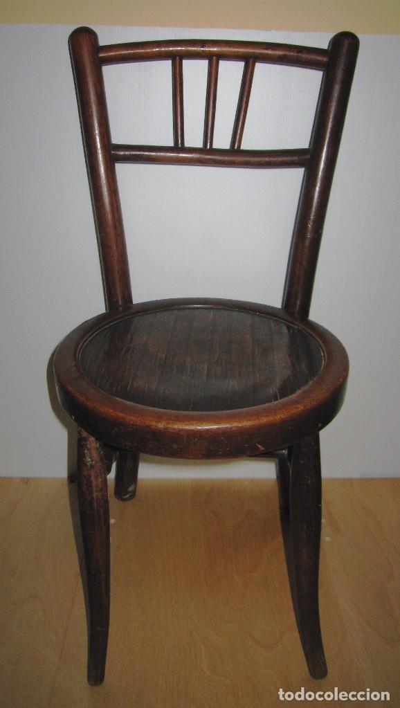 Antigüedades: Silla sillita antigua thonet madera Franco Tormo (1865-1941) - Foto 3 - 175021404