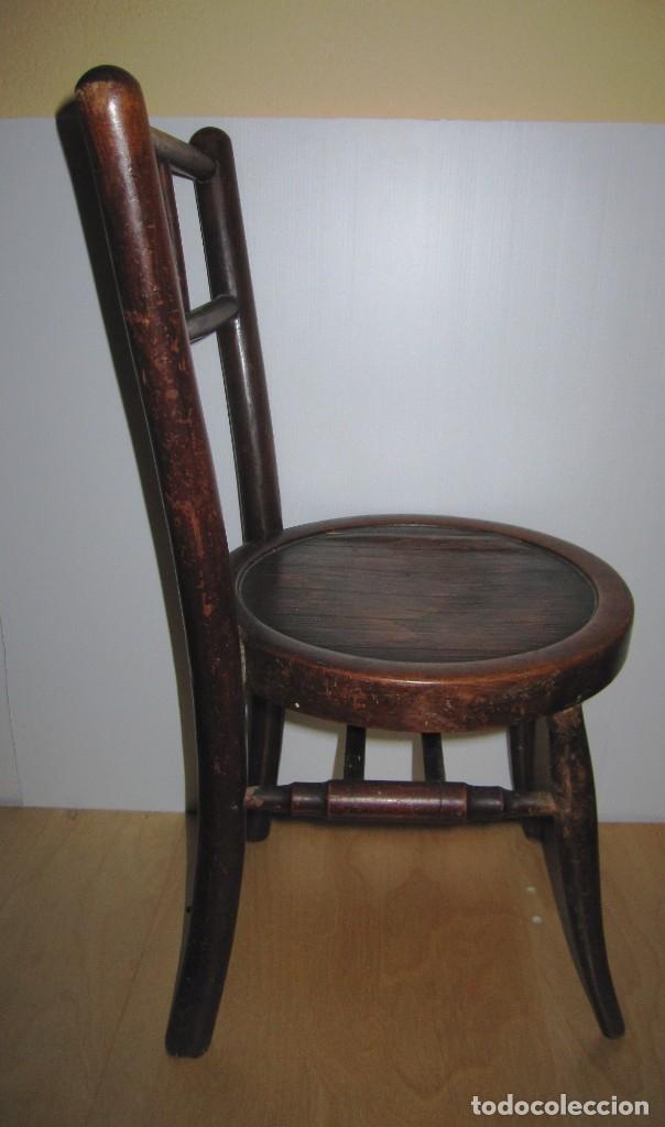 Antigüedades: Silla sillita antigua thonet madera Franco Tormo (1865-1941) - Foto 12 - 175021404