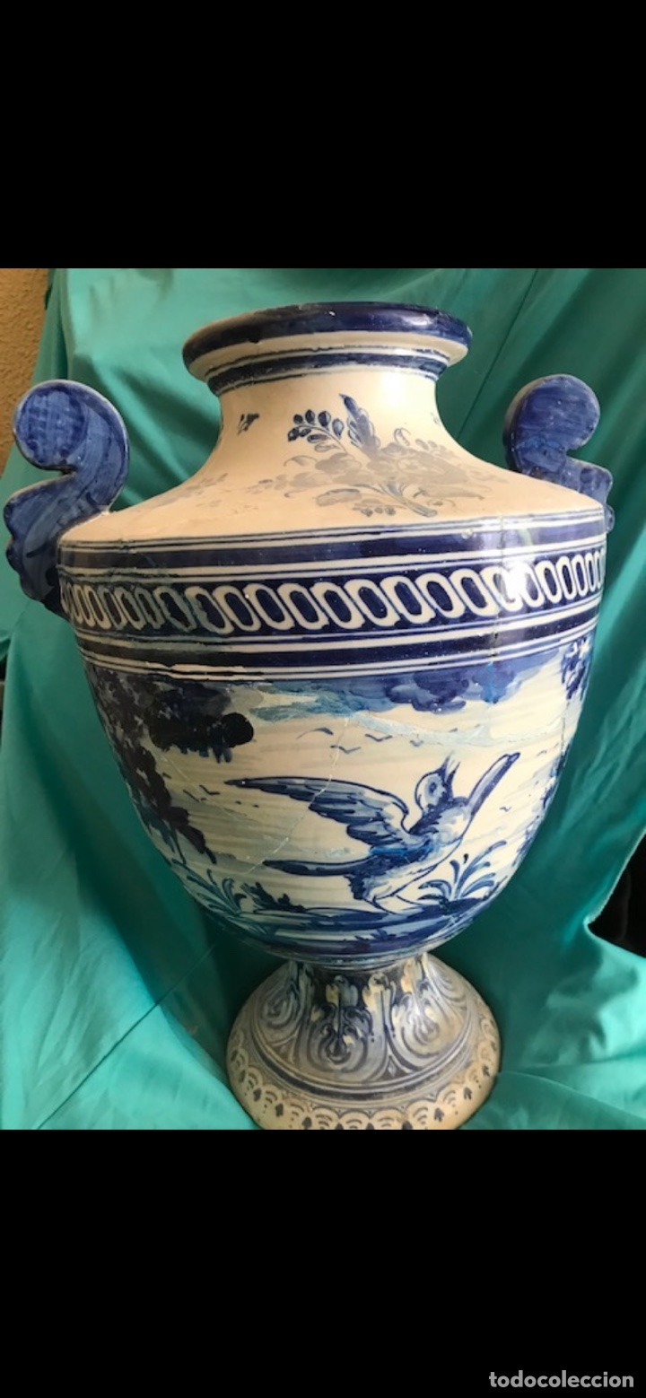 JARRÓN RUIZ DE LUNA TALAVERA (Antigüedades - Porcelanas y Cerámicas - Talavera)