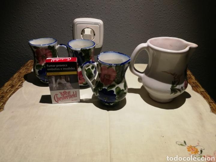 Antigüedades: Lote de jarritas porcelana de lario - Foto 3 - 175033780