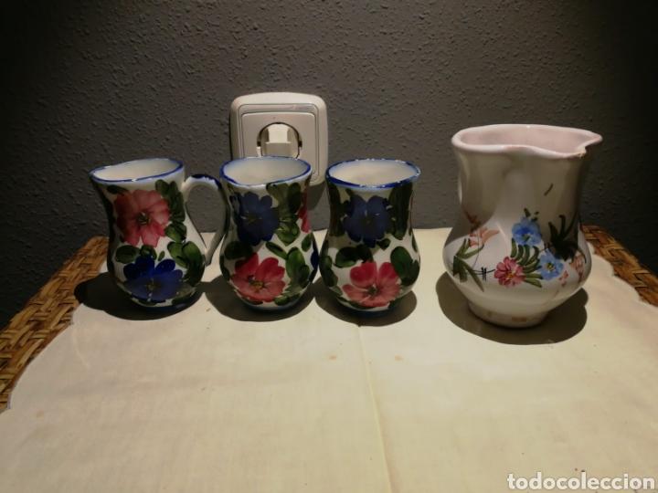 LOTE DE JARRITAS PORCELANA DE LARIO (Antigüedades - Porcelanas y Cerámicas - Lario)