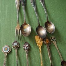 Antigüedades: CUCHARAS VARIADAS METAL. Lote 175051325