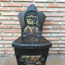 Antiguidades: ANTIGUA BANQUETA DE MADERA CASTELLANA. Lote 175055438