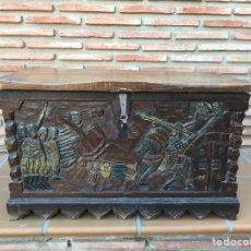 Antigüedades: ANTIGUO BAÚL O ARCON DE MADERA. Lote 175057174