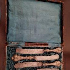 Antigüedades: ANTIGUO ESTUCHE CUCHILLOS. Lote 175085984