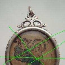 Antigüedades: MEDALLÓN RELICARIO. PLATA. ESPAÑA. SIGLO XVIII. CONTIENE IMÁGENES, SANTA TERESA DE JESÚS Y SAN BLAS.. Lote 175106427